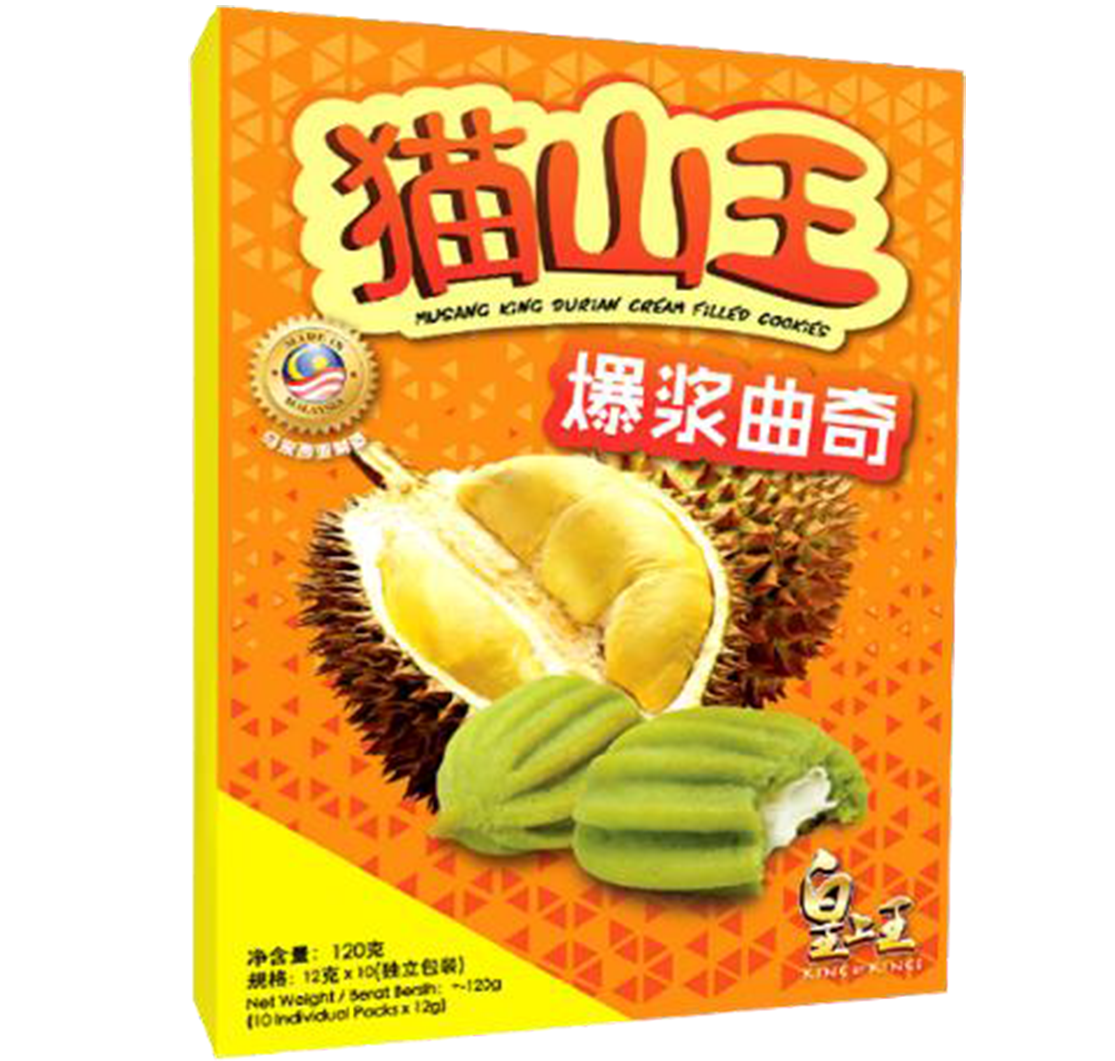 Musang King Durian Cream Filled Cookies
